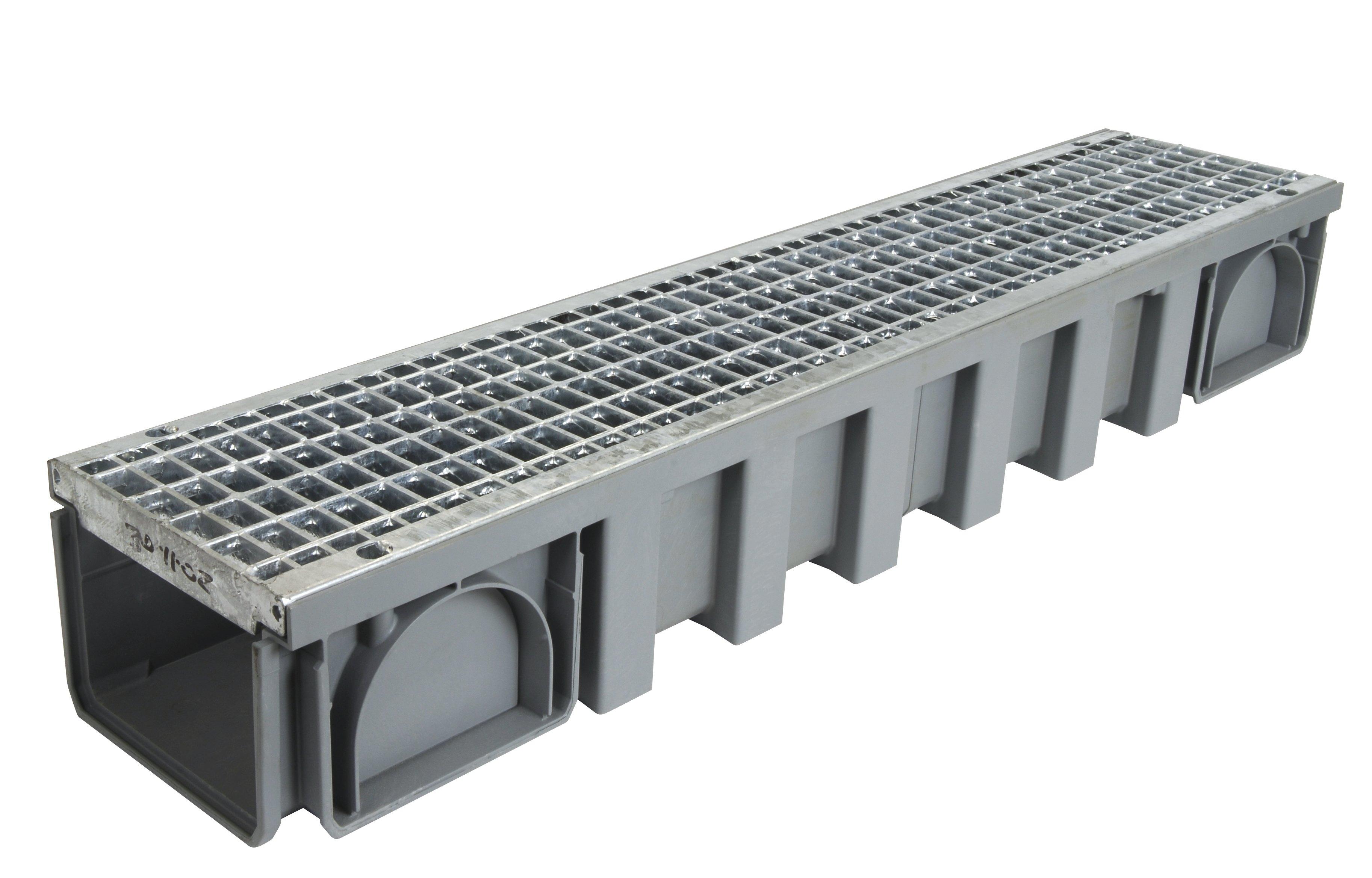 caniveau avec grille acier b125 l150 int 200 ext connecto nicoll. Black Bedroom Furniture Sets. Home Design Ideas