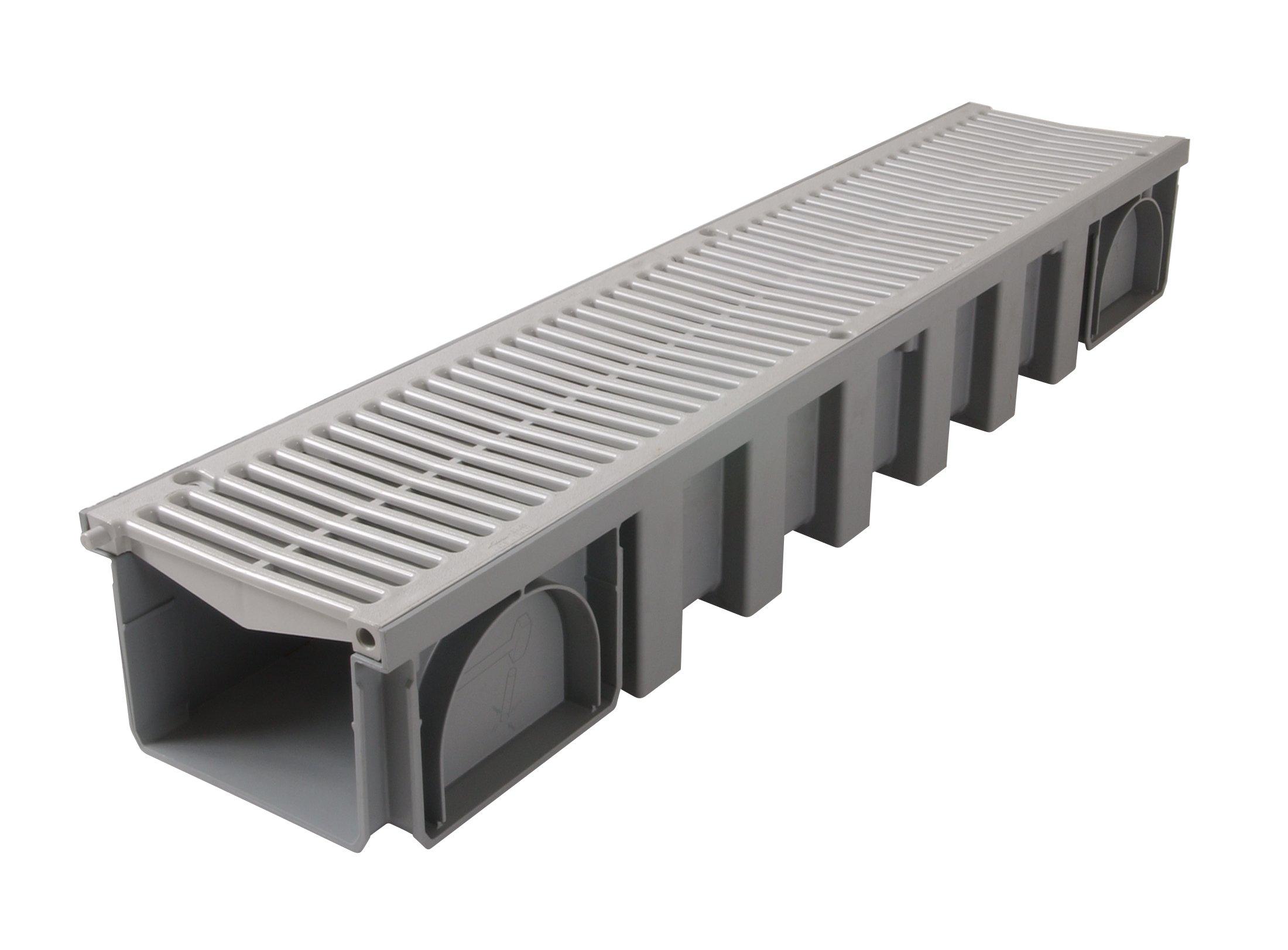 caniveau avec grille pvc a15 l150 int 200 ext connecto. Black Bedroom Furniture Sets. Home Design Ideas