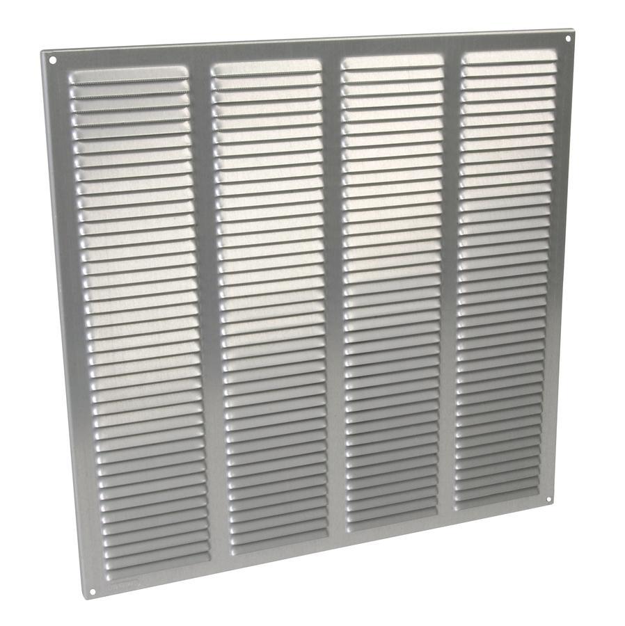 Grille de ventilation aluminium visser carr e for Porte avec grille de ventilation