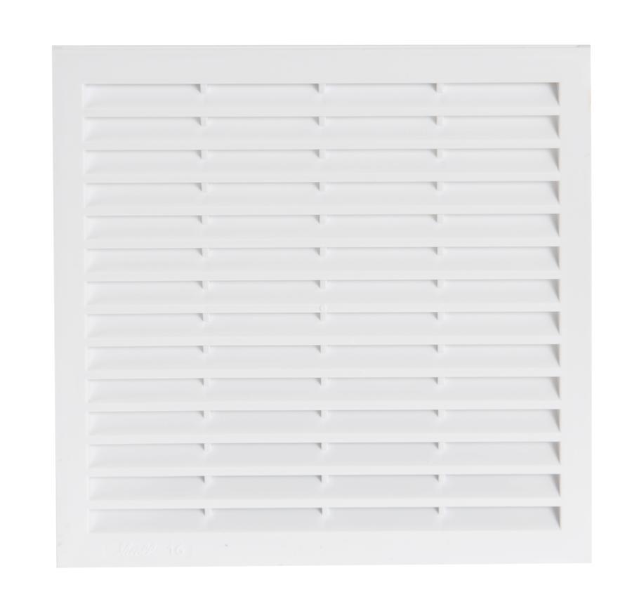 Grille de ventilation pour carrelage avec moustiquaire for Porte avec grille de ventilation