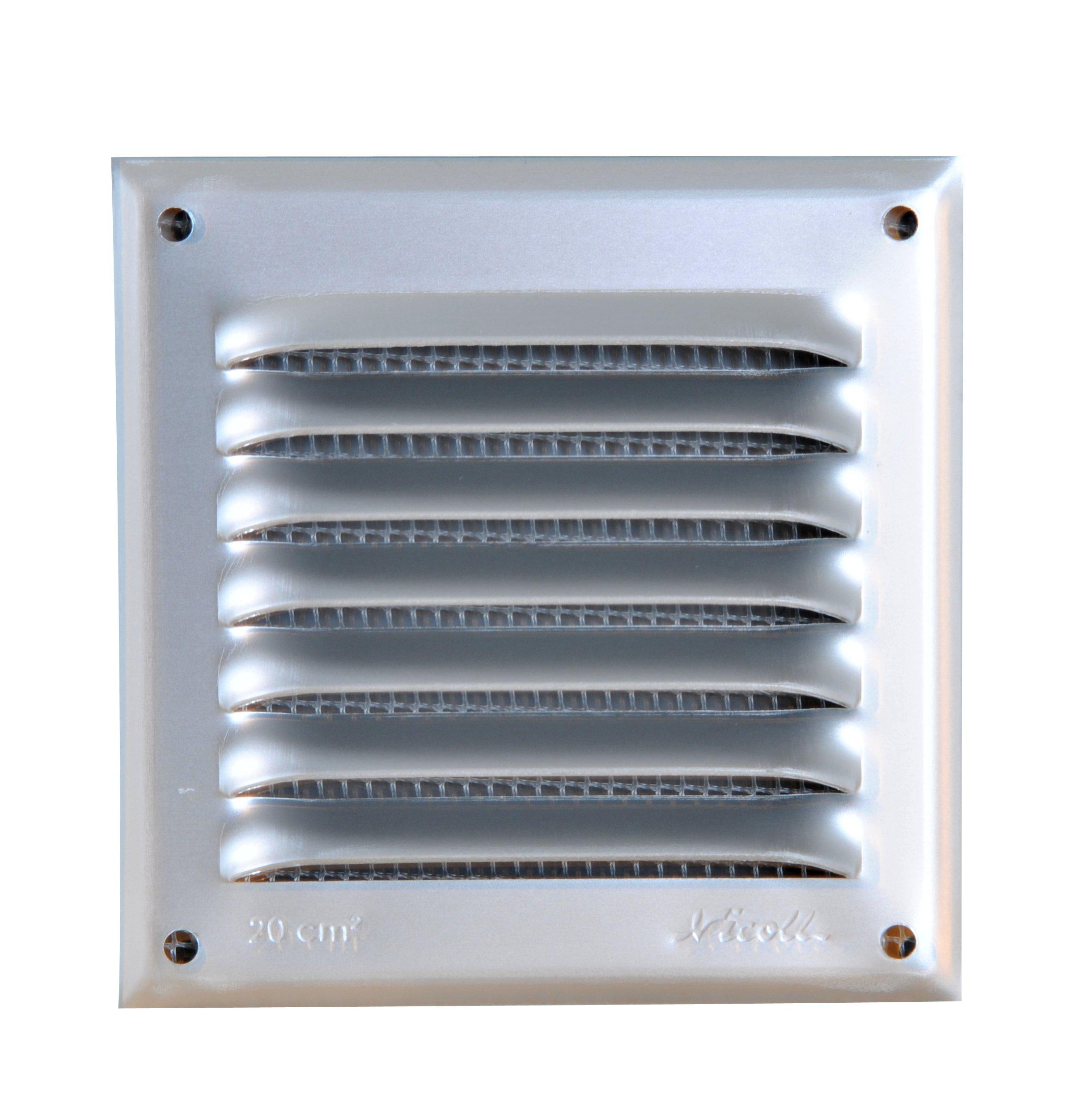 grille de ventilation aluminium visser carr e persiennes avec moustiquaire nicoll. Black Bedroom Furniture Sets. Home Design Ideas