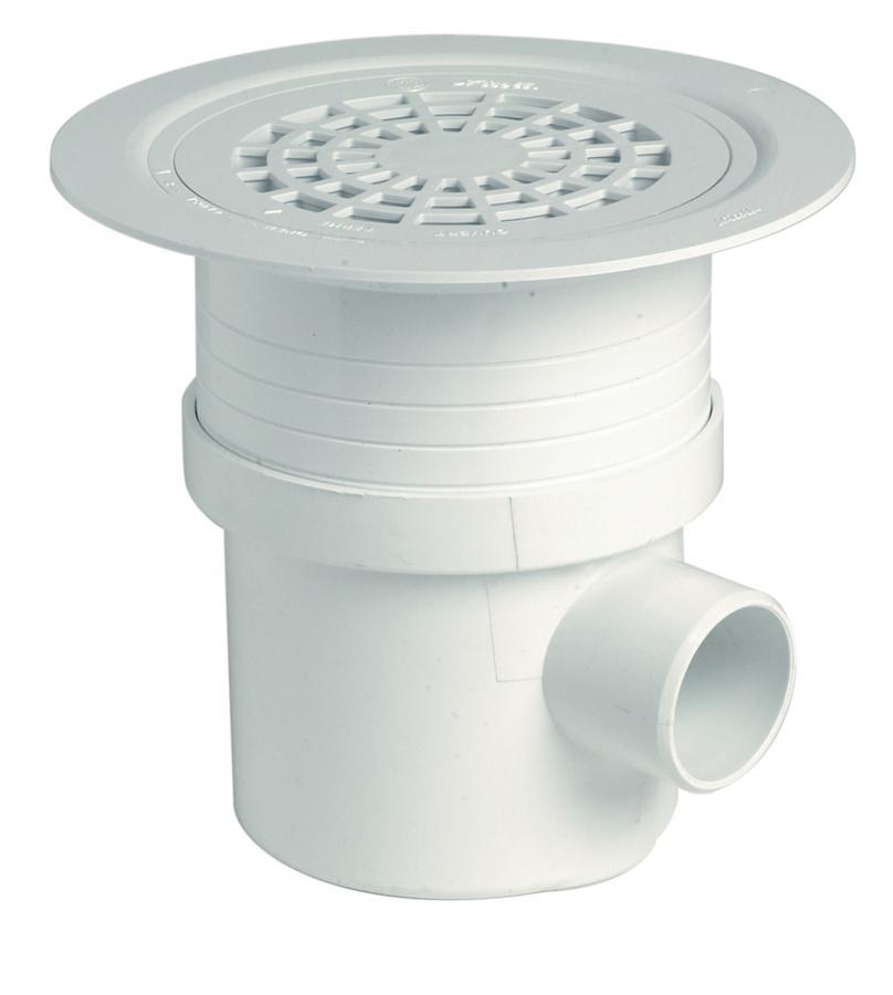 Siphon verticale et horizontale pvc pour sols plastique - Laver rideau de douche plastique machine ...