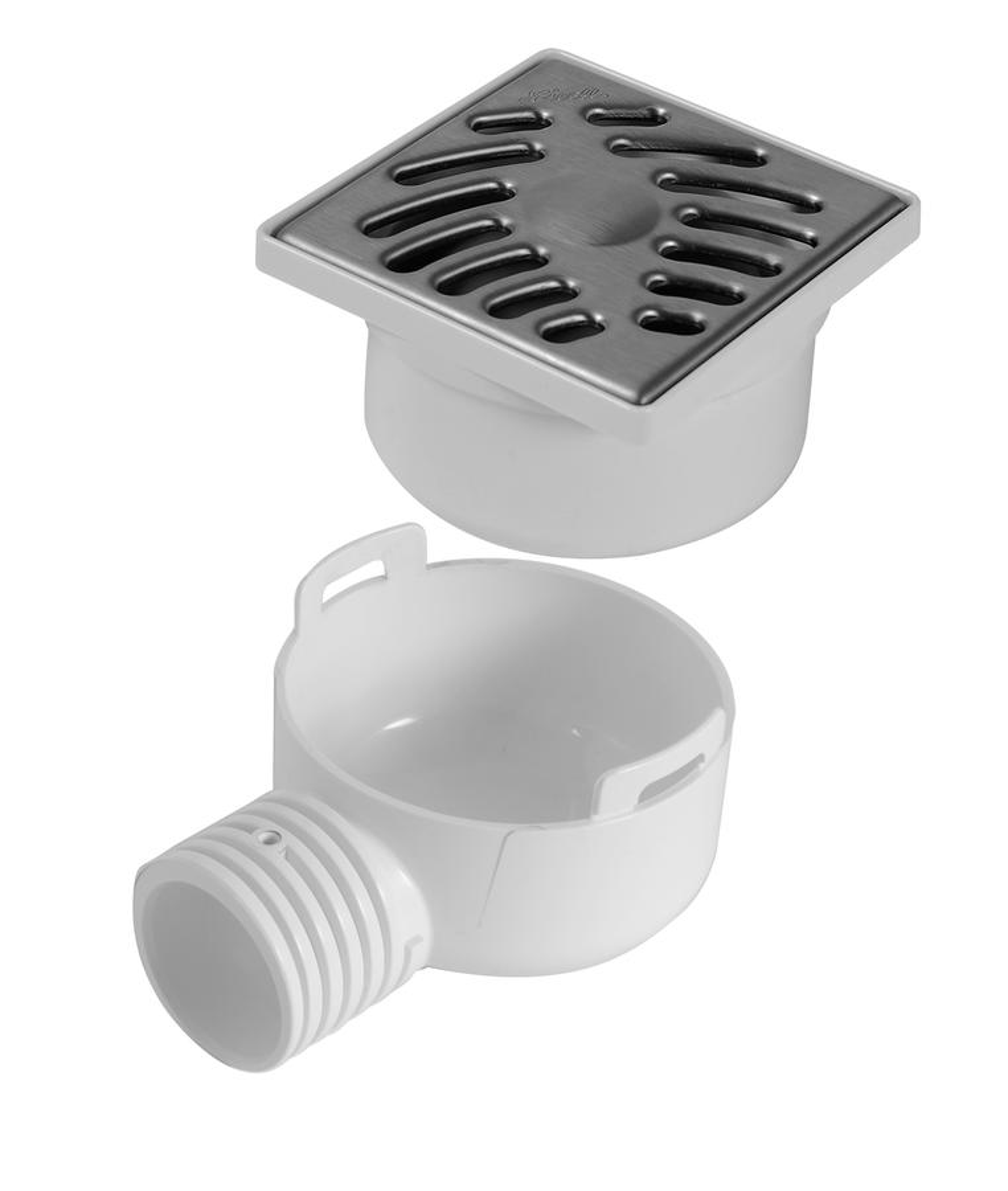 Siphonnette grille carr e 10 x 10 avec adaptateur nicoll - Grille evacuation douche italienne ...