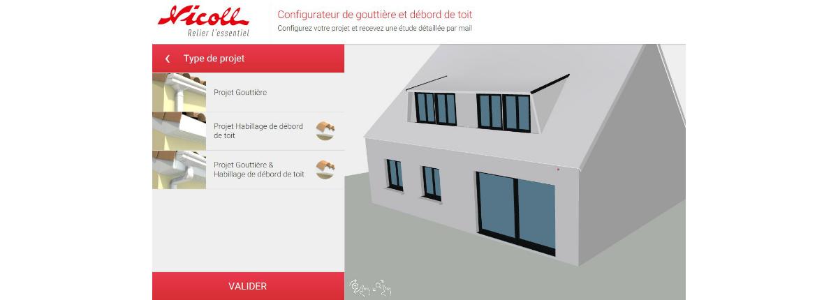 Configurateur de goutti re nicoll for Configurateur cuisine en ligne