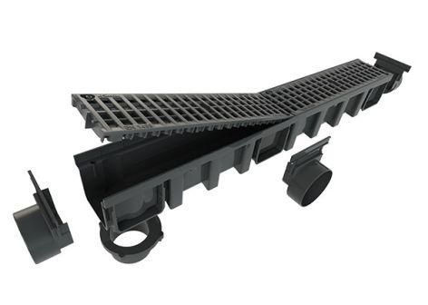 caniveau hydraulique pour une vacuation lin aire des eaux nicoll. Black Bedroom Furniture Sets. Home Design Ideas
