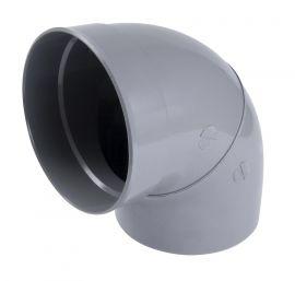 diamètre  75 mm NICOLL Coude MF 87°30 CP8 PVC gris
