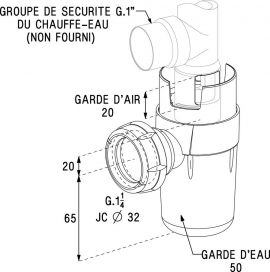 GS008-SIPHON GROUPE SECURITE G.1X5/4  NF