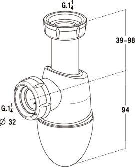 Siphon De Lavabo Bi Matière Easyphon Avec Joints Intégrés Nicoll