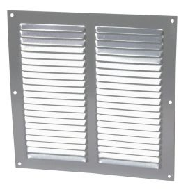 GRILLE PERSIENNE ALU GRIS MOUST.25X25