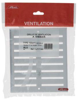 Grille de ventilation aluminium visser fermeture for Fermeture aluminium