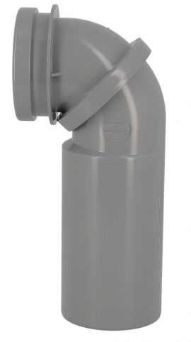 Pipe orientable de WC