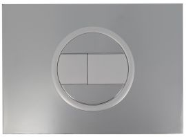412 - PLAQUE 2V B. RECT CHROME VEL/BRIL
