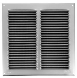 GRILLE PERSIENNE ALU GRIS MOUST.30X30